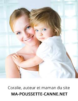 Coralie, auteur du site ma-poussette-canne.net